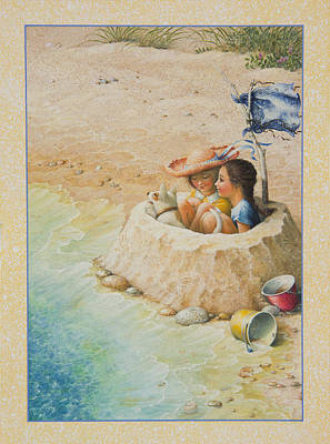 Sand Castles Painting - Sand Castle by Lynn Bywaters