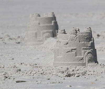 Castles In The Sand Photograph - Sand Castles by Cathy Lindsey