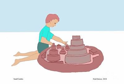 Sand Castles Print by Fred Jinkins