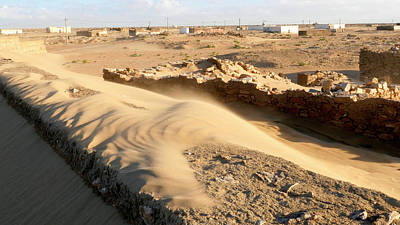 Sahara Photograph - Sand-covered Abandoned Homes by Thierry Berrod, Mona Lisa Production