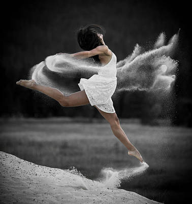 Photograph - Sand Dance by Marie-Dominique Verdier