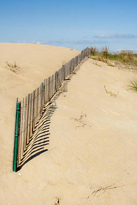 Photograph - Sand Dune Fence by Dawn Romine