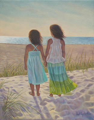 Sand Dunes Painting - Sand Dune Stroll by Holly Kallie