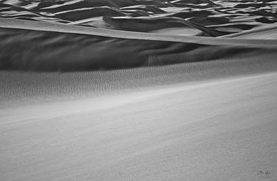 Photograph - Sand Dunes Abstract by Aaron Spong