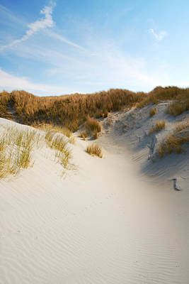 Sand Dunes Photograph - Sand Dunes And Cirrus Clouds by Jan Brons