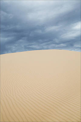 Sand Dunes And Dark Clouds Art Print