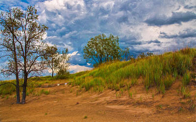 Photograph - Sand Dunes At Indian Dunes National Lakeshore by John M Bailey