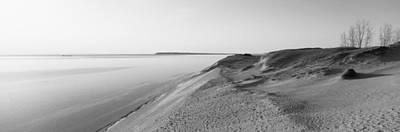 Sand Dunes At The Lakeside, Sleeping Art Print