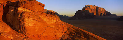 Jordan Photograph - Sand Dunes In A Desert, Jebel Um by Panoramic Images