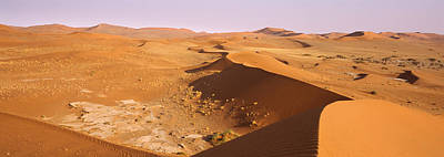 Sand Dunes In A Desert, Namib-naukluft Art Print