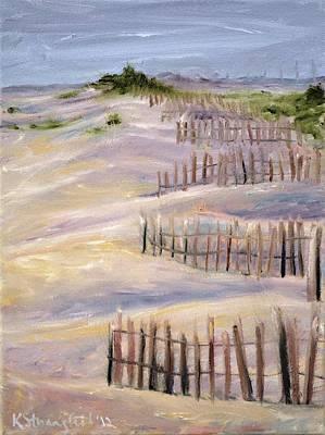 Sand Dunes Painting - Sand Dunes by Karen Strangfeld