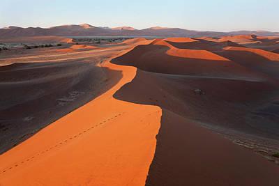 Namib Naukluft National Park Photograph - Sand Dunes, Namib Naukluft National by Peter Adams