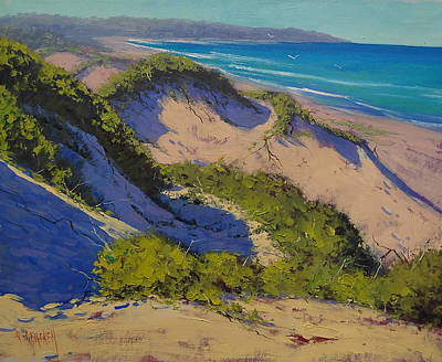 Dunes Painting - Sand Dunes Oil Painting by Graham Gercken