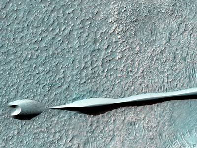 Hellas Photograph - Sand Dunes On Mars by Nasa/jpl-caltech/univ. Of Arizona