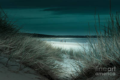 Sand Dunes On The Baltic Coast Of Oland At Boda Sand Sweden Art Print