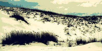 Sand Dunes With Oats Art Print