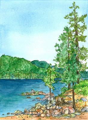 Painting - Sand Harbor Lake Tahoe by Cathie Richardson