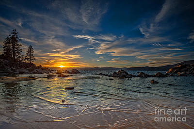 Lake Tahoe Photograph - Sand Harbor Tahoe Sunset II by Dianne Phelps