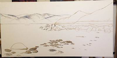 Painting - Sand Harbor Wip by Darice Machel McGuire