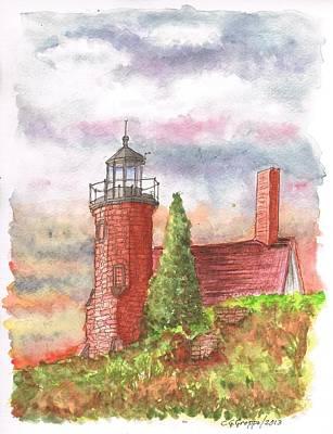 Sand Island Lighthouse - Wisconsin Art Print