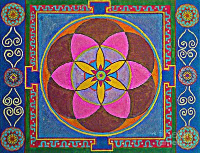 Sand Mandala Painting - Sand Mandala by Maya B