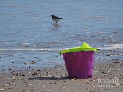 Photograph - Purple Sand Pail  by Bob Sample