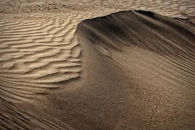 Sand Pattern Abstract - 2 Art Print