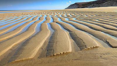 Sunset Photograph - Sand Ripples At Low Tide by Dapixara Art