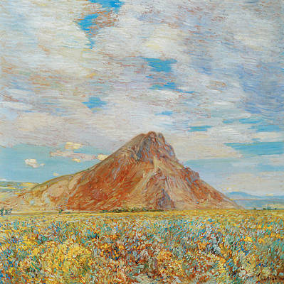 Sand Springs Butte Art Print by Childe Hassam