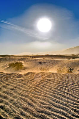 Sand Storm In The Mesquite Dunes 2 Art Print