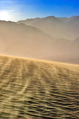 Sand Storm In The Mesquite Dunes Art Print
