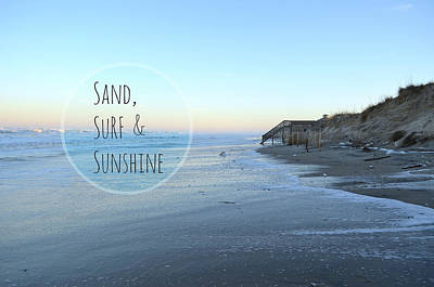 Sand Surf Sunshine Art Print by Robin Dickinson