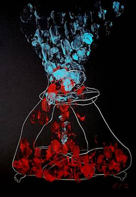 Sand Timer Of Love Art Print by Elisheva Nesis