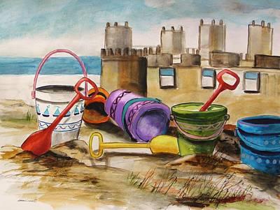 Sand Tools Art Print by John Williams