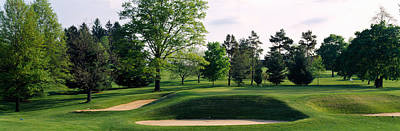 Urban Scenes Photograph - Sand Traps On A Golf Course, Baltimore by Panoramic Images