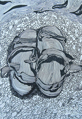 Painting - Sandals - Doodle  by James Lavott