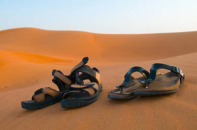 Photograph - Sandals On Sand by Mick House