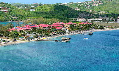 Saint Lucia Photograph - Sandals Resort - Rodney Bay - St. Lucia by Brendan Reals