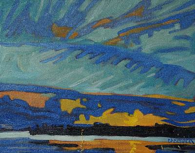 Sandbank Twilight Art Print