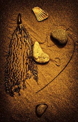 Beach Towns Digital Art - Sandbar Abstract by Ron Regalado