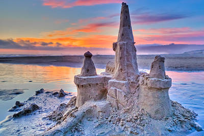 Photograph - Sandcastle In Pastel by Joseph Bowman