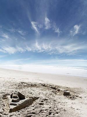 Sandcastle Art Print by Les Cunliffe