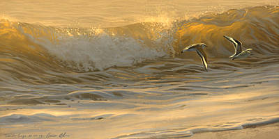 Sanderlings Art Print
