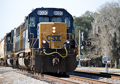 Photograph - Sanderson Crossing - Csx 8020 by rd Erickson