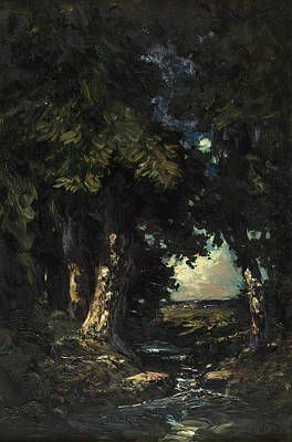 Moonlit Painting - Sandersons Brook by Julian Rix