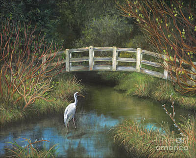 Painting - Sandhill Crane At Spring Creek by Jeanette French