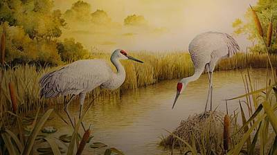 Painting - Sandhill Pond by Charles Owens