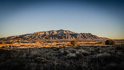 Photograph - Sandia Mountains At Sunset by Anthony Doudt