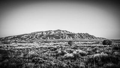 Photograph - Sandia Mountains In Black And White by Anthony Doudt