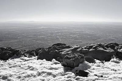 Photograph - Sandia Peak Winter View by Andrea Hazel Ihlefeld